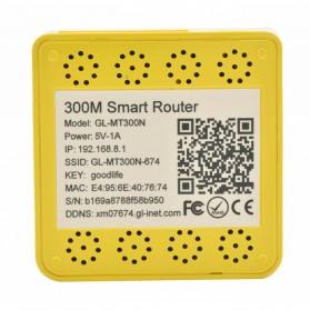 GL.iNet OpenWRT Mini Smart Router DDRI 64MB - GL-MT300N - Yellow - 3