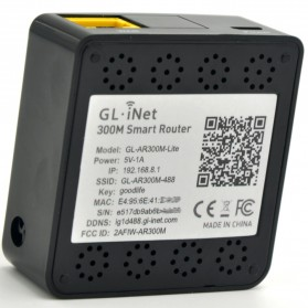 GL.iNet Shadow OpenWRT Mini Smart Router DDRII 128MB - GL-AR300M-Lite - Black - 4