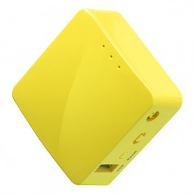 WiFi / Wireless Router / Access Point - GL.iNet Mango OpenWRT Mini Smart Router DDRII 128MB - GL-MT300N-V2 - Yellow