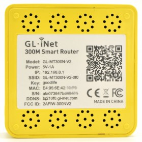 GL.iNet Mango OpenWRT Mini Smart Router DDRII 128MB - GL-MT300N-V2 - Yellow - 3