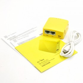 GL.iNet Mango OpenWRT Mini Smart Router DDRII 128MB - GL-MT300N-V2 - Yellow - 9