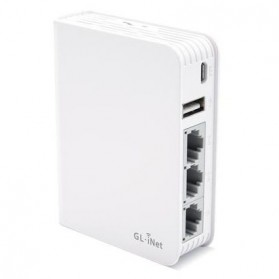 GL.iNet Creta Travel OpenWRT Mini Smart Router DDRII 128MB - GL-AR750 - White