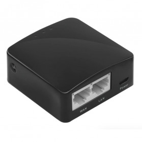 GL.iNet Shadow OpenWRT Mini Smart Router - GL-AR300M16 - Black