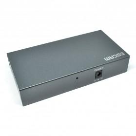 ESCAM POE 4+2 Port 10/100M Fast Ethernet Switch - PSE-6004 - Black - 2