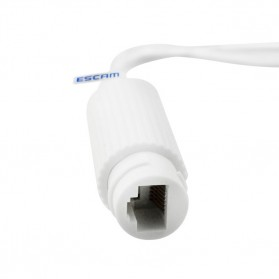 ESCAM POE Splitter Cable for IP Camera / CCTV Network / LAN Tools 30m Transmission - POE S2 - White - 3
