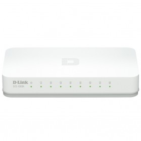 Switch - D-Link Fast Ethernet Switch 8 Port - DES-1008C - Black