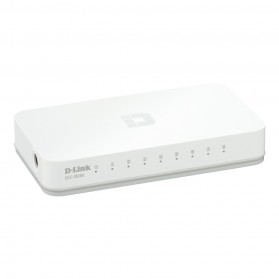 D-Link Fast Ethernet Switch 8 Port - DES-1008C - White