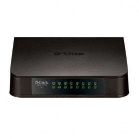 Switch - D-Link Fast Ethernet Switch 16 Port - DES-1016A - Black