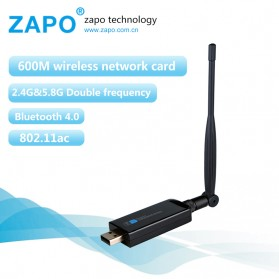 ZAPO W67L-5DB USB Wireless Adapter 802.11AC 450Mbps with Bluetooth 4.0 - Black