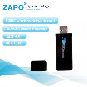 USB Wireless Receiver / Dongle - ZAPO W67B USB Wireless Adapter 802.11AC 600Mbps with Bluetooth 4.0 - Black