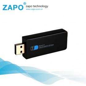 ZAPO W67B USB Wireless Adapter 802.11AC 600Mbps with Bluetooth 4.0 - Black - 4