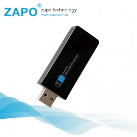 ZAPO W67B USB Wireless Adapter 802.11AC 600Mbps with Bluetooth 4.0 - Black - 5