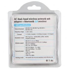 ZAPO W67B USB Wireless Adapter 802.11AC 600Mbps with Bluetooth 4.0 - Black - 9