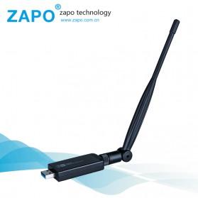 ZAPO W50L-5DB USB Wireless Adapter 802.11AC 1200Mbps - RTL8812AU - Black - 5