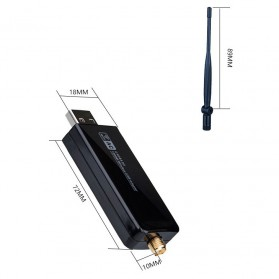 ZAPO W50L-5DB USB Wireless Adapter 802.11AC 1200Mbps - RTL8812AU - Black - 6