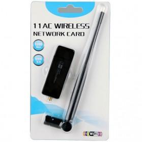 ZAPO W50L-5DB USB Wireless Adapter 802.11AC 1200Mbps - RTL8812AU - Black - 10