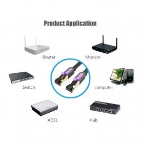Vention Kabel Ethernet LAN Network RJ45 Cat7 2M - ICAB - Black - 7