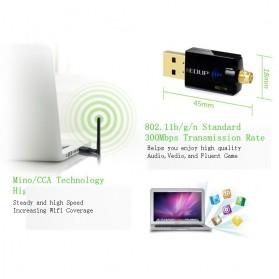 EDUP Wireless USB Adapter 802.11N 300Mbps Realtek8192CU Chispset - EP-MS1559 - Black - 9