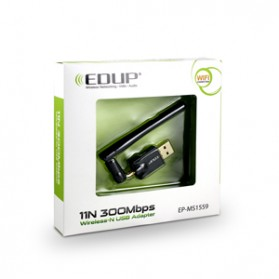 EDUP Wireless USB Adapter 802.11N 300Mbps Realtek8192CU Chispset - EP-MS1559 - Black - 10