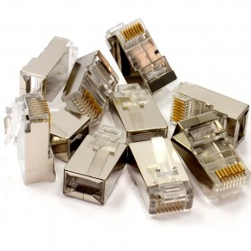 Kepala LAN RJ45 Cat5 Shielded 1 PCS - Transparent
