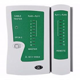 Cable Tester - Tester Kabel Jaringan RJ45 RJ11 RJ12 CAT5 UTP - Green