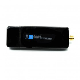 USB WiFI Adapter Dual Band 450Mbps Bluetooth Receiver 4.0 with Antenna - RTL8821 - Black - 3