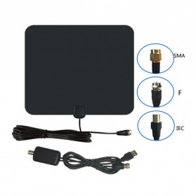 Digital TV HDTV Antenna - CJH-158A - Black - 5