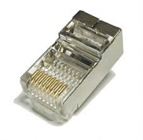 Kabel LAN & RJ45 - High Quality RJ45 Shielded Plug Cat5 8P8C Lan Connector Network - 1 pcs