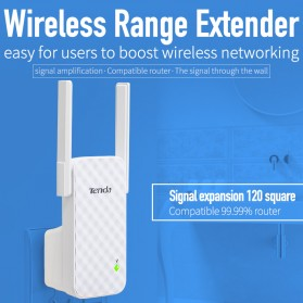 TENDA N300 Universal Wireless Range Extender 300Mbps - A9 - White - 4