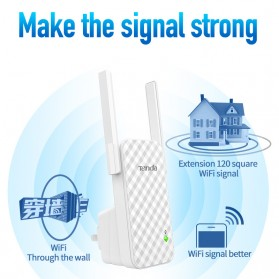 TENDA N300 Universal Wireless Range Extender 300Mbps - A9 - White - 5