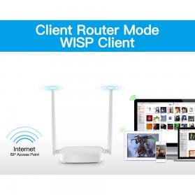 TENDA N300 WiFi Router 300Mbps - N301 - White - 5