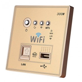 Wall Embedded Wireless AP Router - Golden