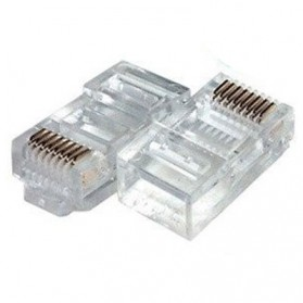 SAP Netconnect Modular Plug RJ45 Standard Body Solid 5-554720-5 LAN Connector Network - 1 Pcs - Transparent - 3