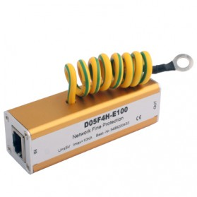 Hardware Jaringan, Network Tool - Alat Pelindung Konslet Jaringan Network Lightning Arrester Surge Protector - CYL D05F4H-E100 - Golden