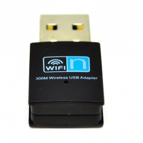 Kextech Mini USB Wireless Adapter 300Mbps - RTL8192 - Black - 3