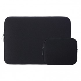 Sleeve Case for Macbook Pro Touchbar 15 Inch with Pouch - YG6005 - Black