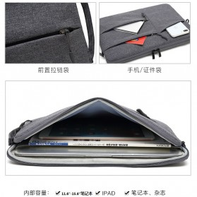 Mosiso Sleeve Case Shockproof for Laptop 13 Inch - C2396 - Gray - 3