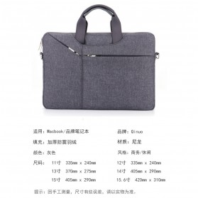 Qinuo Sleeve Case Shockproof for Laptop 14 Inch - Gray - 6