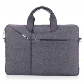 Qinuo Sleeve Case Shockproof for Laptop 15.6 Inch - Gray - 1