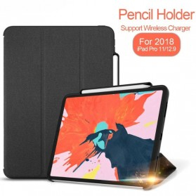 Ringke Flip Cover Case with Pencil Holder for iPad Pro 11 2018 - Black - 1