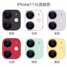 FUNY Lens Circle Camera Protective Film  For iPhone 11 - Black - 7