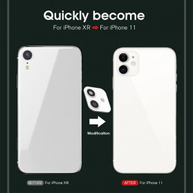 GERTONG Camera Lens Change Sticker iPhone 11 Pro Max for iPhone X - Black - 2
