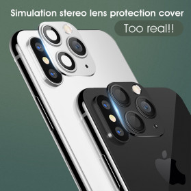 GERTONG Camera Lens Change Sticker iPhone 11 Pro Max for iPhone X - Black - 5