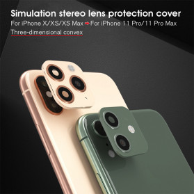 GERTONG Camera Lens Change Sticker iPhone 11 Pro Max for iPhone X - Black - 6
