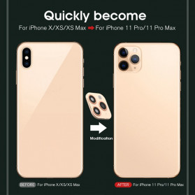 GERTONG Camera Lens Change Sticker iPhone 11 Pro Max for iPhone X - Black - 7
