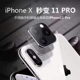 GERTONG Camera Lens Change Sticker iPhone 11 Pro Max for iPhone X - Black - 8