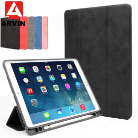 Arvin Leather Case with Pen Holder for iPad Pro 11 Inch 2018 - LC11 - Black