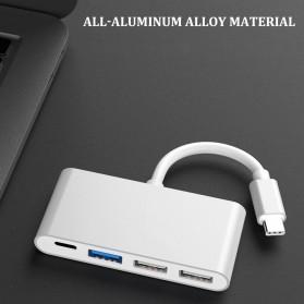 Comfast Adapter USB Type C ke 1xUSB 3.0 + 2xUSB 2.0 + 1xUSB Type C - HW-TC32 - Gray - 2