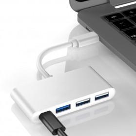 Comfast Adapter USB Type C ke 1xUSB 3.0 + 2xUSB 2.0 + 1xUSB Type C - HW-TC32 - Gray - 4