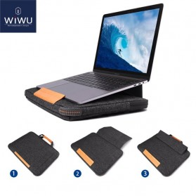 Wiwu Tas Laptop Sleeve Case Ergonomic Stand for Macbook Pro 13 Inch - Black